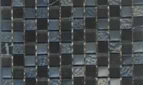Black 1x1 Glass Stone