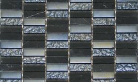 Black 58x2 Glass Stone