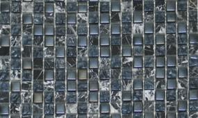 Black 58x58 Glass Stone