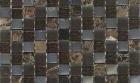 Chocolate 1x1 Glass Stone