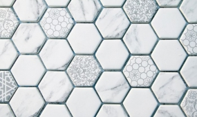 Recycled Glass Hexagon